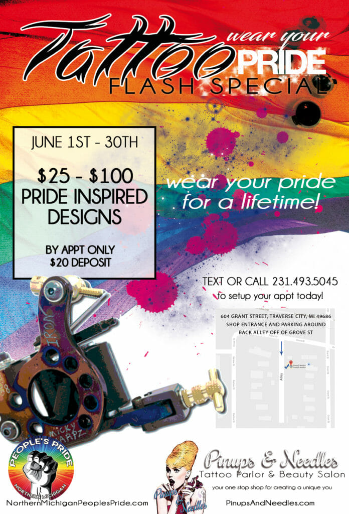 WEB Pinups and Needles Pride 2019 Tattoo Flash Special